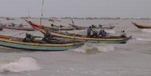 Situasi pesisir pantai utara Kragan, Rembang.