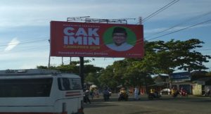 Baliho Muhaimin Iskandar kembali dipasang di dekat Terminal Lasem.