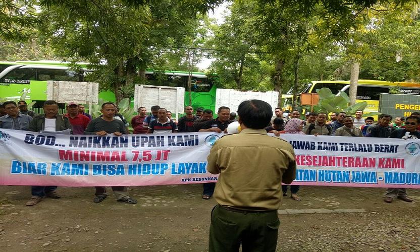 Pegawai Perhutani Demo Ke Jakarta, Ini Tuntutannya