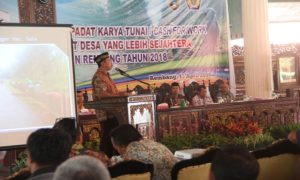 Sosialisasi dana desa di Pendopo Museum Kartini Rembang, Jum'at (13/04).