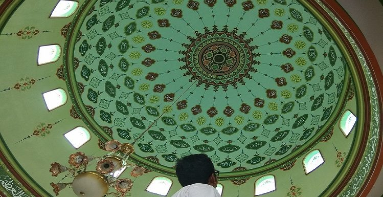 Interior Kaligrafi Menawan, Sering Mengundang Decak Kagum