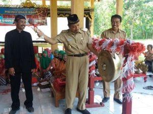 Peresmian sanggar budaya di Desa Sendangasri Kecamatan Lasem, Senin (14/05).