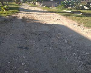 Jalan rusak Desa Sambiyan, Kecamatan Kaliori.