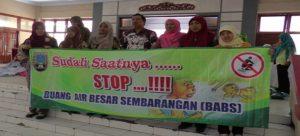 Kampanye stop BAB sembarangan di Rembang, belum lama ini.