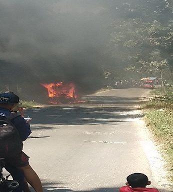 Akan Pentas, Bus Pembawa Pemain Kethoprak Ludes Terbakar