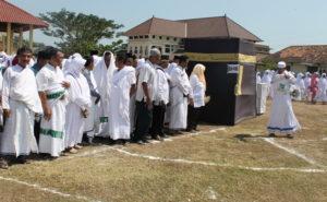 Kegiatan manasik haji di Kabupaten Rembang, beberapa waktu lalu.
