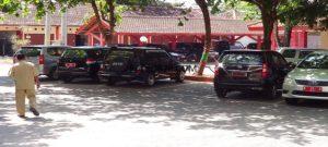 Deretan mobil dinas di jajaran Pemkab Rembang.