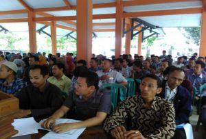Pengawas TPS di Kecamatan Rembang Kota mengikuti bimbingan tekhnis, belum lama ini.