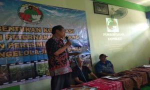 Pembentukan koperasi Makmur Jaya Lestari di Sulang, Kamis (19/07).