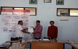 KPU Kabupaten Rembang menerima kelengkapan berkas persyaratan bakal Caleg dari Partai Perindo, Senin (30/07).