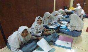 Para pendaftar Polwan dari Kabupaten Rembang tahun ini. Mereka semua gagal di tengah proses seleksi.