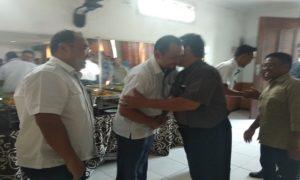 Jajaran PLTU Sluke dengan kalangan wartawan di Kabupaten Rembang menggelar halal bihalal, Kamis siang.