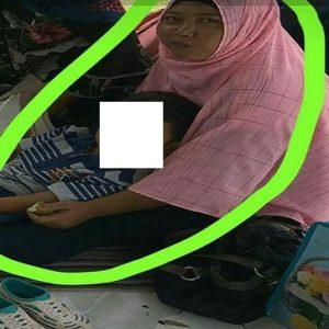Anik Suhartini dan anaknya yang dilaporkan menghilang.