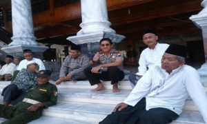 Kapolres Rembang, AKBP Pungki Bhuana Santosa saat berada di Masjid Agung Rembang, belum lama ini.