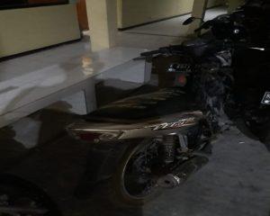Barang bukti sepeda motor hasil curian diamankan di Mapolres Rembang.