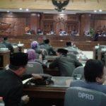 Rapat paripurna dengan agenda penyampaian nota keuangan Perubahan APBD 2018, Jum'at (21/09).
