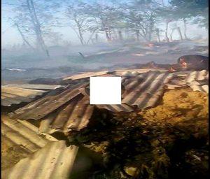 Kebakaran melanda TPAS Landoh Kecamatan Sulang.
