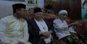 Kiai Ma'ruf Amin, bakal Cawapres saat berada di pondok pesantren Al Anwar Sarang, Selasa sore.