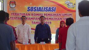 KPU Rembang sosialisasikan tahapan kampanye kepada pengurus partai politik, Kamis (20/09).