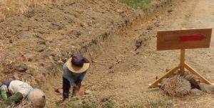 Salah satu proyek fisik yang dianggarkan melalui APBD Kabupaten Rembang, masih dalam proses pengerjaan.