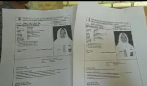 Copyan kartu pendaftaran Risma dan Riska. (gambar atas) Tangisan pelajar berprestasi yang gagal kuliah, Risma Nur Inayatul Azkiyak kini berbuah manis.