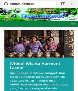 Website Desa Dasun, Kecamatan Lasem.