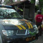 Kapolsek Rembang Kota, AKP Haryanto saat menggelar patroli di jalur Pantura Rembang – Lasem.