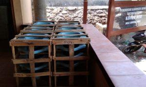 Closet untuk program jamban sehat disiapkan pihak Desa Labuhan Kidul, Kecamatan Sluke.