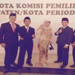 5 orang komisioner KPU Kabupaten Rembang, periode 2018 – 2023.