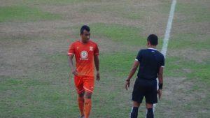 Striker PSIR Rembang, Koko Hartanto mencetak 1 gol saat menghadapi tim Persik Kendal.