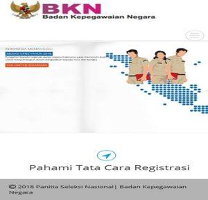 Website BKN menjadi sangat padat, karena banyaknya pelamar memasukkan data secara online.
