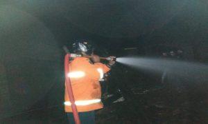 Kebakaran rumah di Desa Jadi, Kecamatan Sumber, Senin malam.