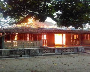 Kebakaran di Dusun Ngampo, Desa Sridadi, Rembang.