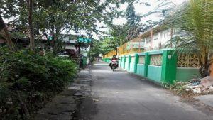 Suasana perkampungan di Kelurahan Kutoharjo, Rembang.