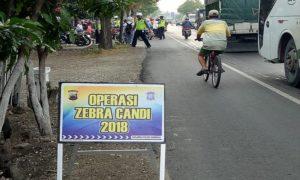 Suasana Operasi Zebra Candi yang digelar Satlantas Polres Rembang.