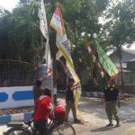Penertiban alat peraga kampanye Caleg di Kabupaten Rembang, yang melanggar aturan.