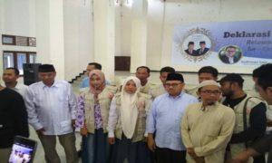 Sudirman Said menghadiri deklarasi relawan Prabowo – Sandi se Eks Karesidenan Pati di Gedung Haji Rembang, Sabtu (10/11).