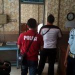 Aparat Polres Rembang melakukan olah TKP di Rutan Rembang, setelah ada tahanan gantung diri, Rabu siang.