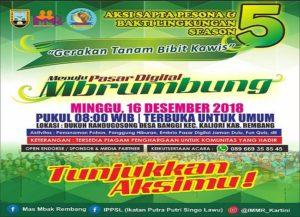 Rencana launching Pasar Digital Mbrumbung sebagai bagian sapta pesona. (gambar atas) Warga Dusun Randugosong, Desa Banggi semangat membuat bangunan, untuk menunjang Pasar Mbrumbung.
