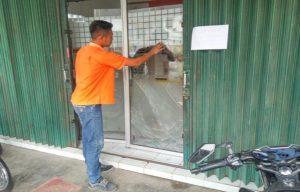 Kantor Pos di Jl. Pemuda Rembang, dibobol pencuri.