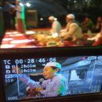 KH. Anwar Zahid memberikan ceramah saat kegiatan Rembang Bersholawat, Sabtu malam (15/12).
