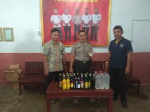 Hasil operasi Miras yang digelar oleh anggota Polsek Rembang Kota.