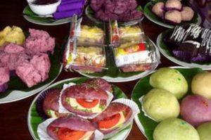 Aneka makanan yang dihasilkan dari ketela rambat di Republik Telo (grid.id), yang menjadi sasaran studi banding KWT dari Kabupaten Rembang.