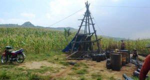 Sumur tua di wilayah hutan Jatirogo, perbatasan antara Kabupaten Tuban, Rembang dan Kabupaten Blora. (suarabanyuurip).