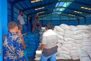 Tim monitoring stok garam dari lintas kementerian, mengecek penampungan garam di Desa Purworejo, Kecamatan Kaliori, Kamis sore (24/01).