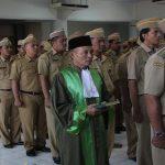 Pelantikan para pejabat di lingkungan Pemkab Rembang, Senin pagi (21/01).