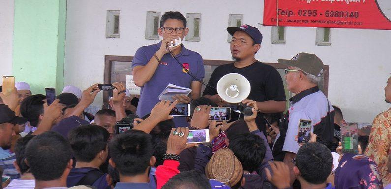 Ada Pria Merangsek Teriakkan Nama Jokowi, Begini Reaksi Sandiaga Uno