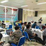 Suasana pelatihan pengurus BUMDes 5 desa di sekitar PT. Semen Gresik Pabrik Rembang, Jum'at (15/02).