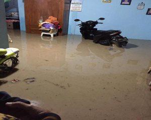 Berbagai angle banjir yang melanda sejumlah desa di Kecamatan Kragan, Kamis malam (07/03).