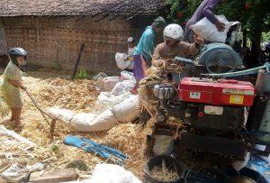Aktivitas penggilingan jagung di Desa Karangasem, Kecamatan Bulu.